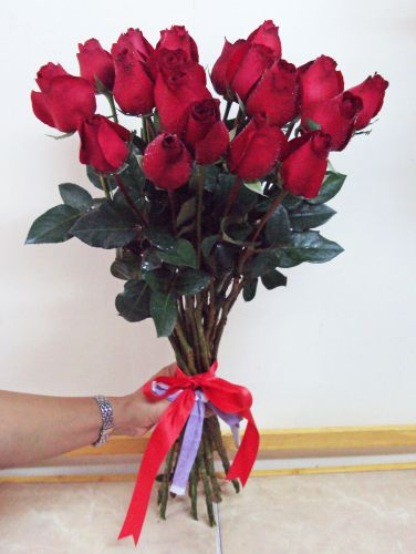 Fresh Red Chinese Roses - Tied Stems Only